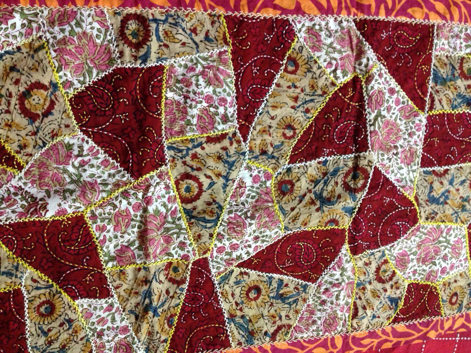 Crazy quilting, quilting by hand techniques
