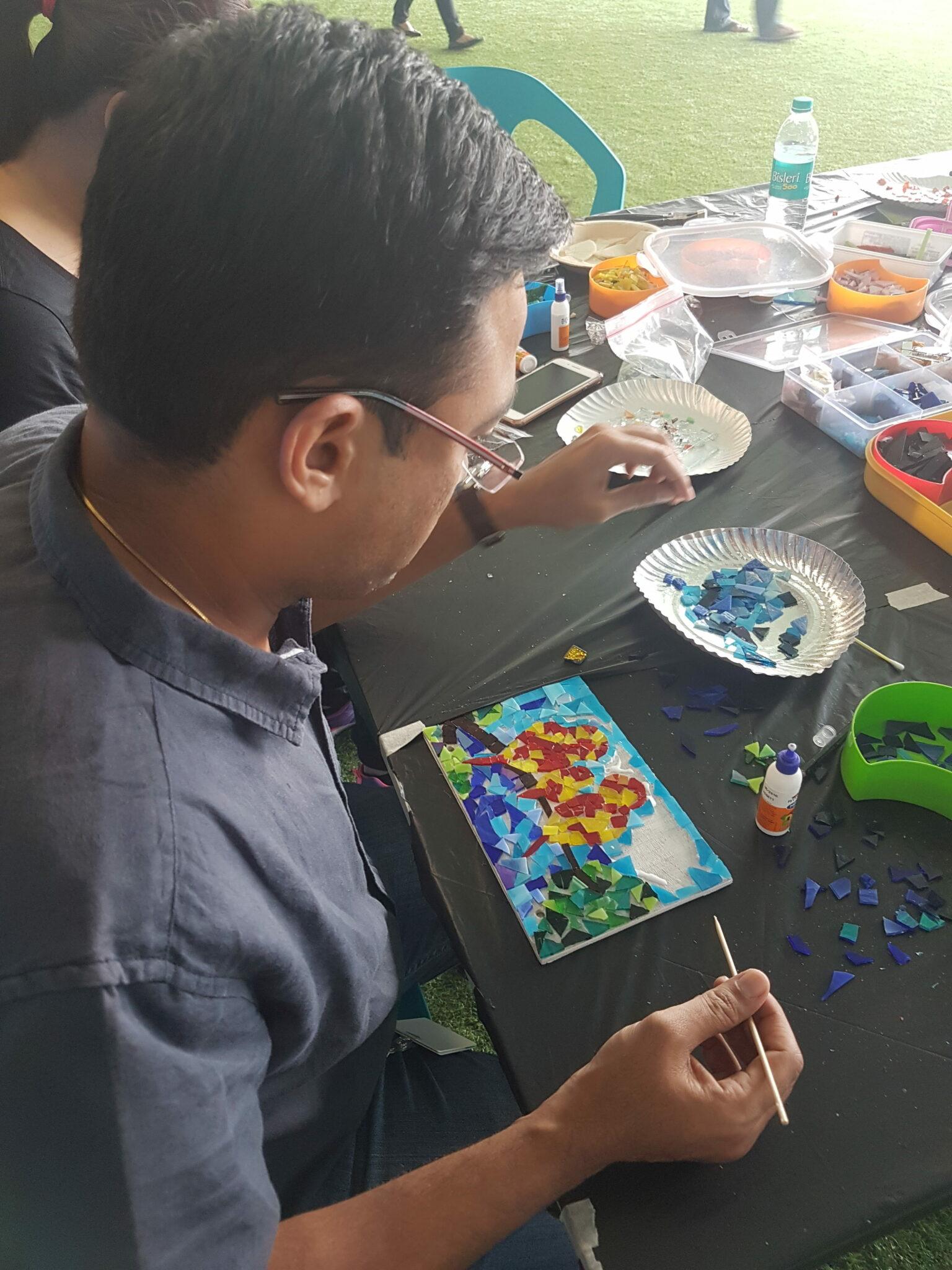 Paper Mosaic workshop at LinkedIn