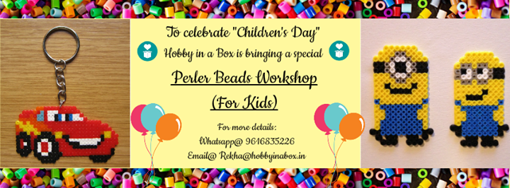 Perler beads workshop by hobby in a box