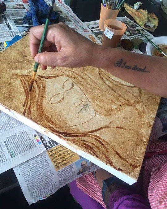 Coffee painting for beginners by Studio Chhavi