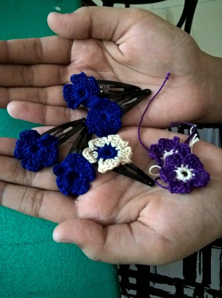 Crochet hair clips-2