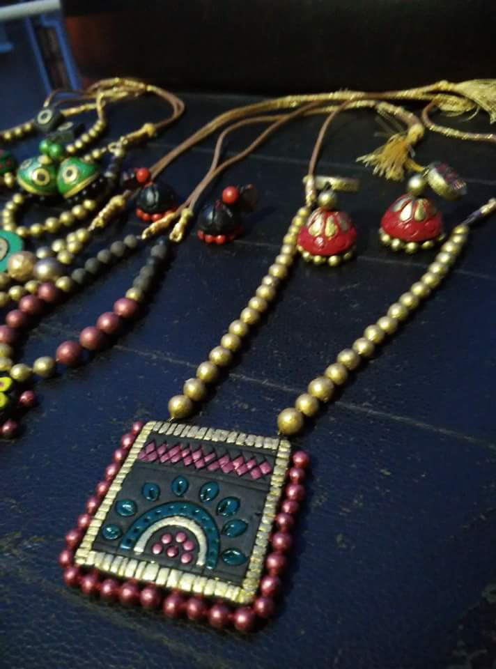 Elegant Terracotta Jewelry Sets
