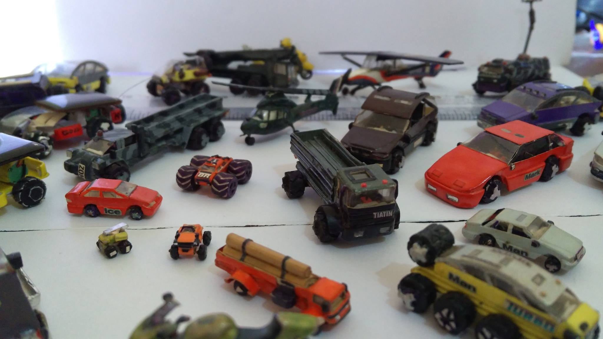 Miniature trucks and toys