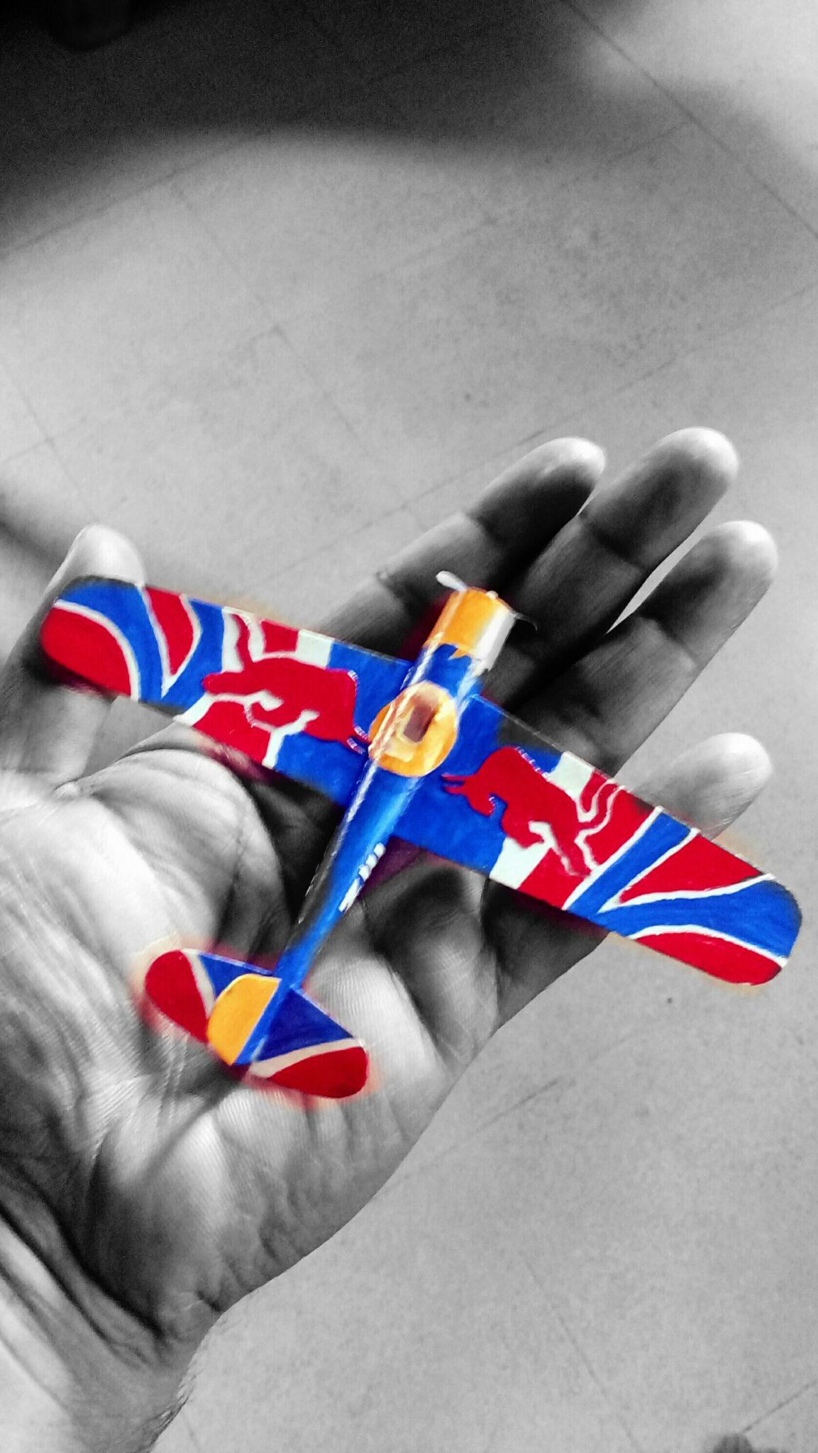 Miniature Red Bull Plane