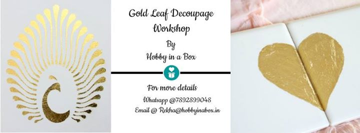 Gold Leaf Decoupage By Hobby in a Box