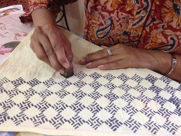 Block printing, natural dyeing workshop,