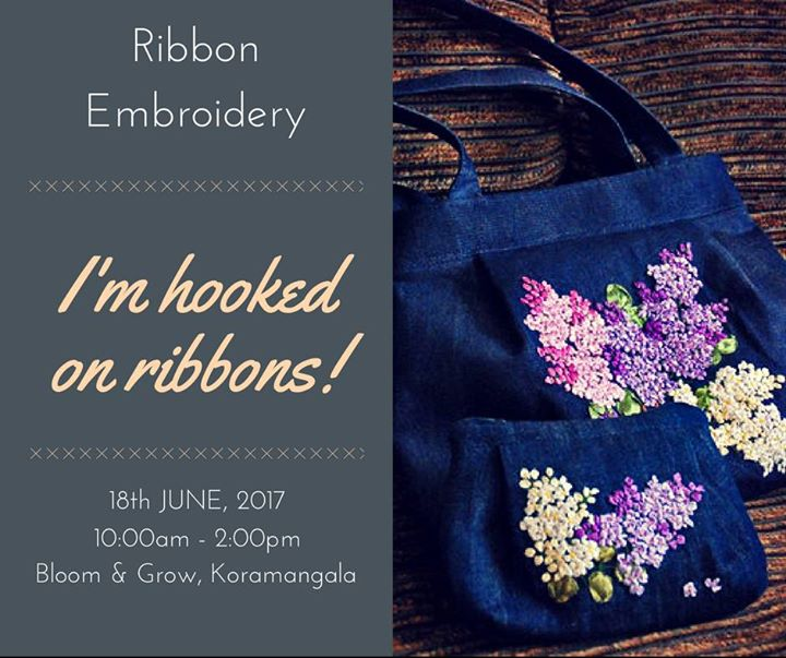 Silk Ribbon embroidery on Bags