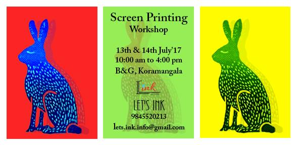 Screen printing 2 day workshop