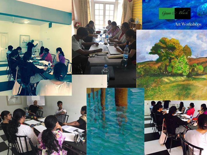 The art of acrylic Sketching & Acrylic painting sessions bangalore