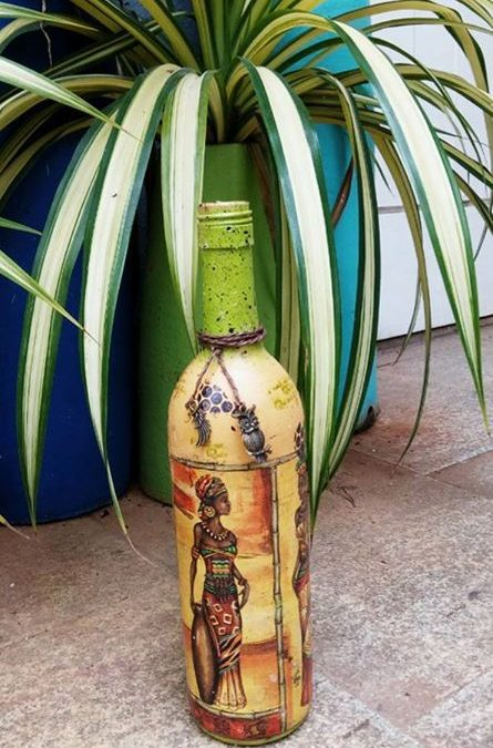 Bottle Art – Decoupage on Glass Bottles