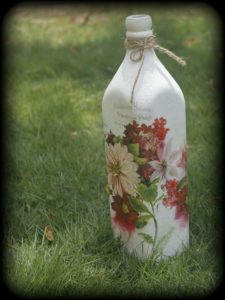 Decoupage Bottle Art