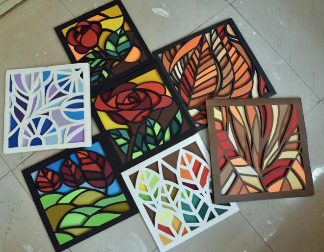 3D Paper Mosaic – Beginner workshop in Bangalore