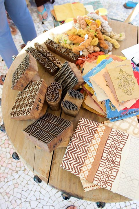 Natural dyeing and block printing
