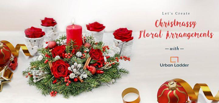 Christmassy Floral Arrangements Workshop