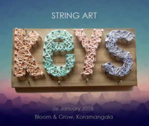 String Art workshop in Bangalore