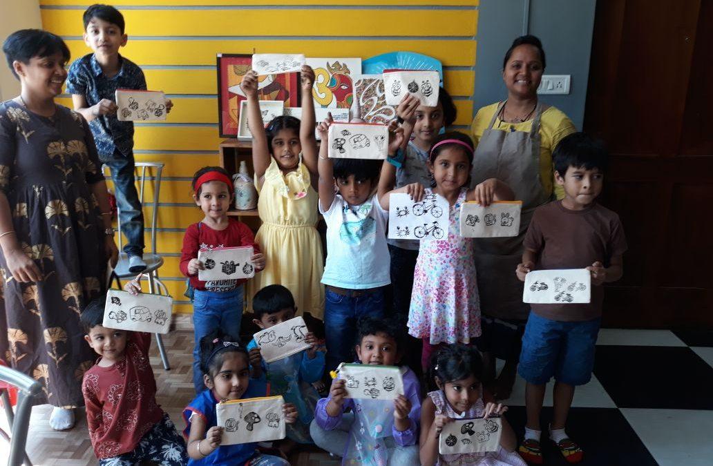 Block Printing Workshop for Kids in Bangalore