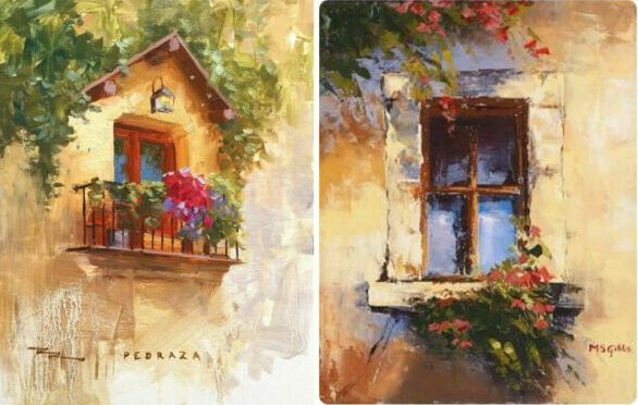 Oil Painting - Venice Balcony Painting – Beginner workshop in Bangalore