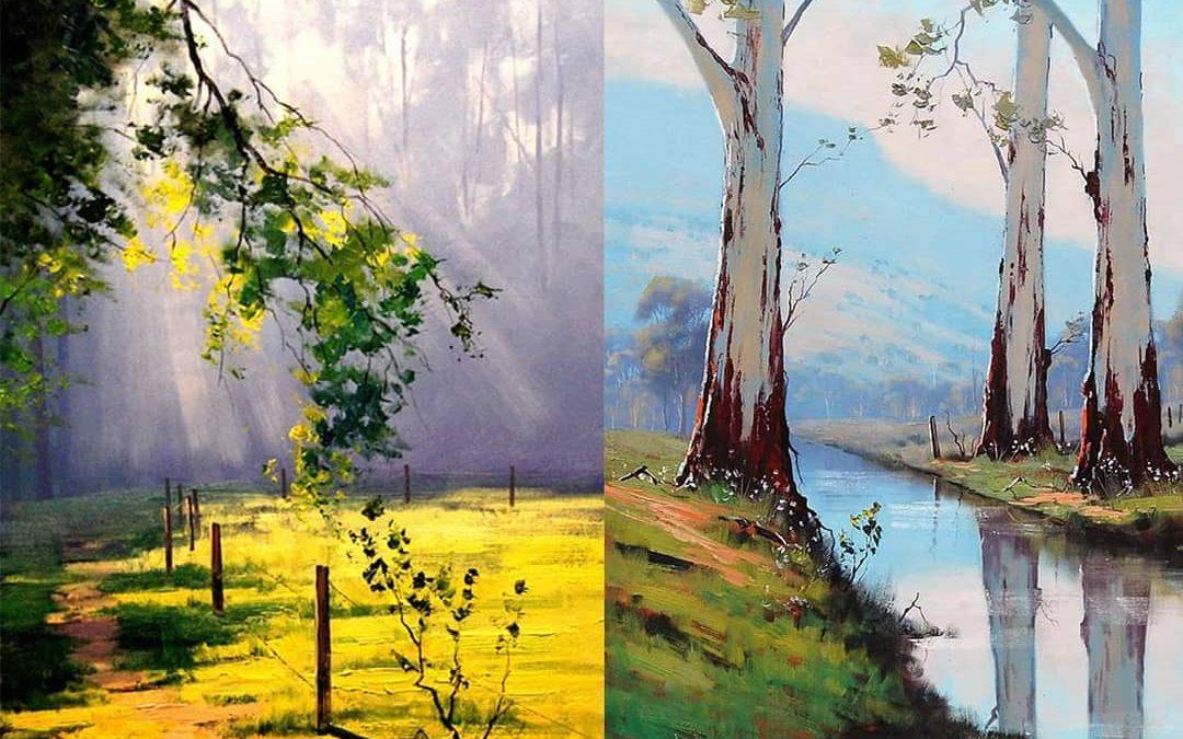 Landscapes with oil paints