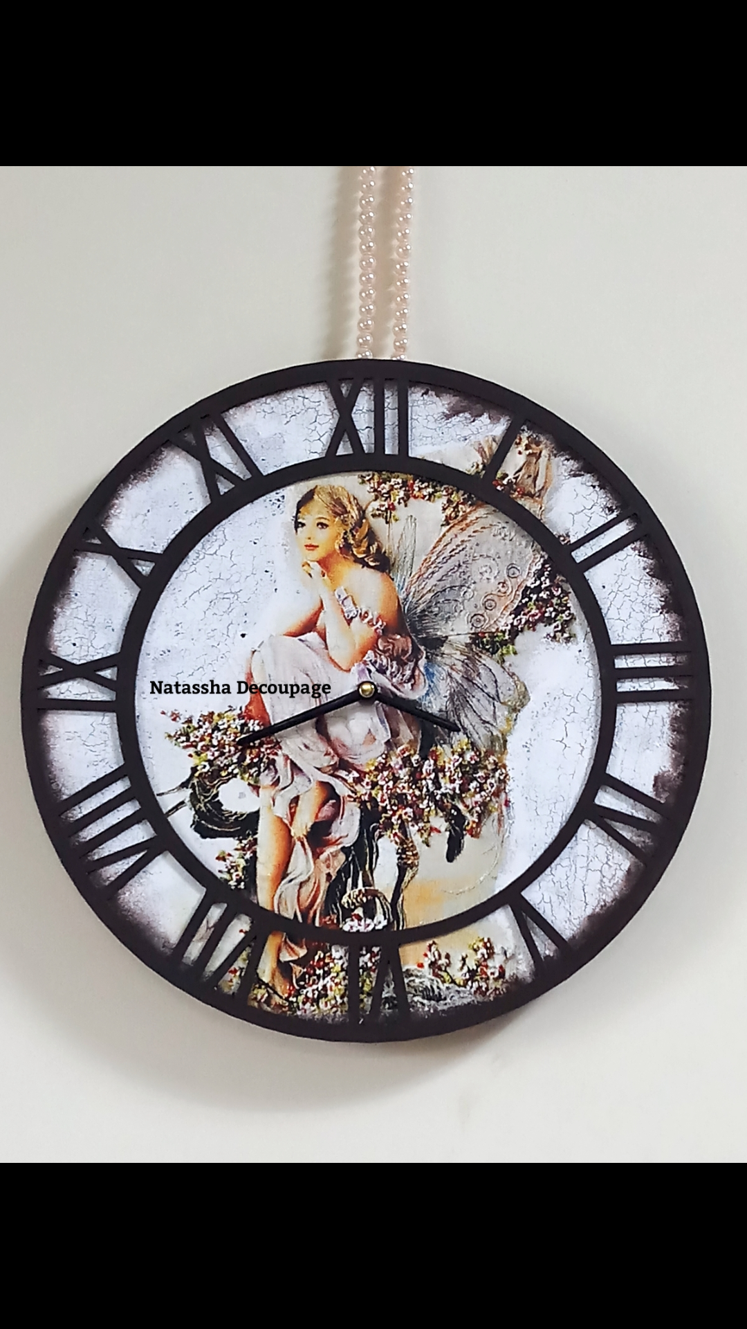 Mixed media vintage wall clock workshop in Bangalore
