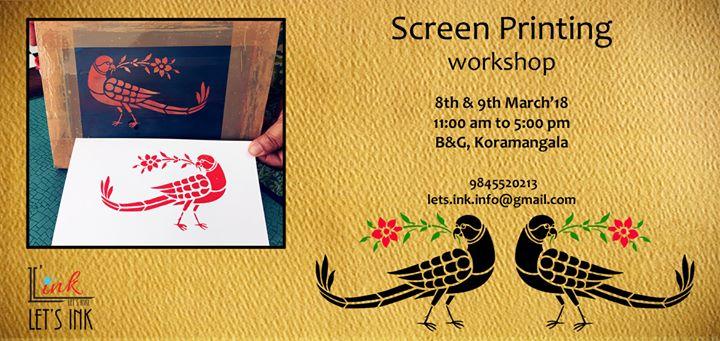 Screen Printing 2-day workshop in Bangalore