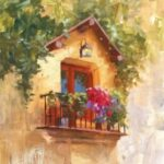 Oil Painting (Venice Balcony Painting) - Live Online Session