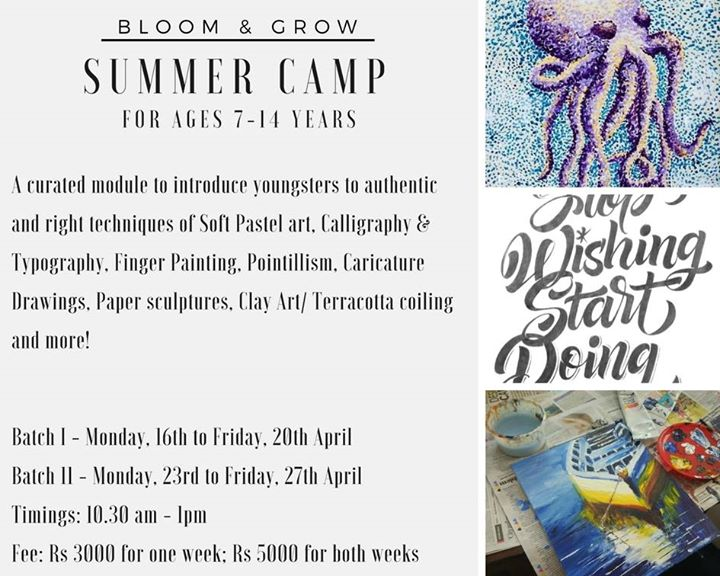 Art Summer Camp in Koramangala ( Ages 7 to 14 years)