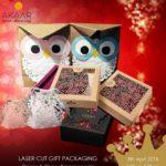 Laser cut gift packaging