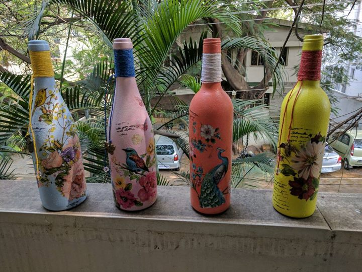 Decoupage Bottle Art workshop