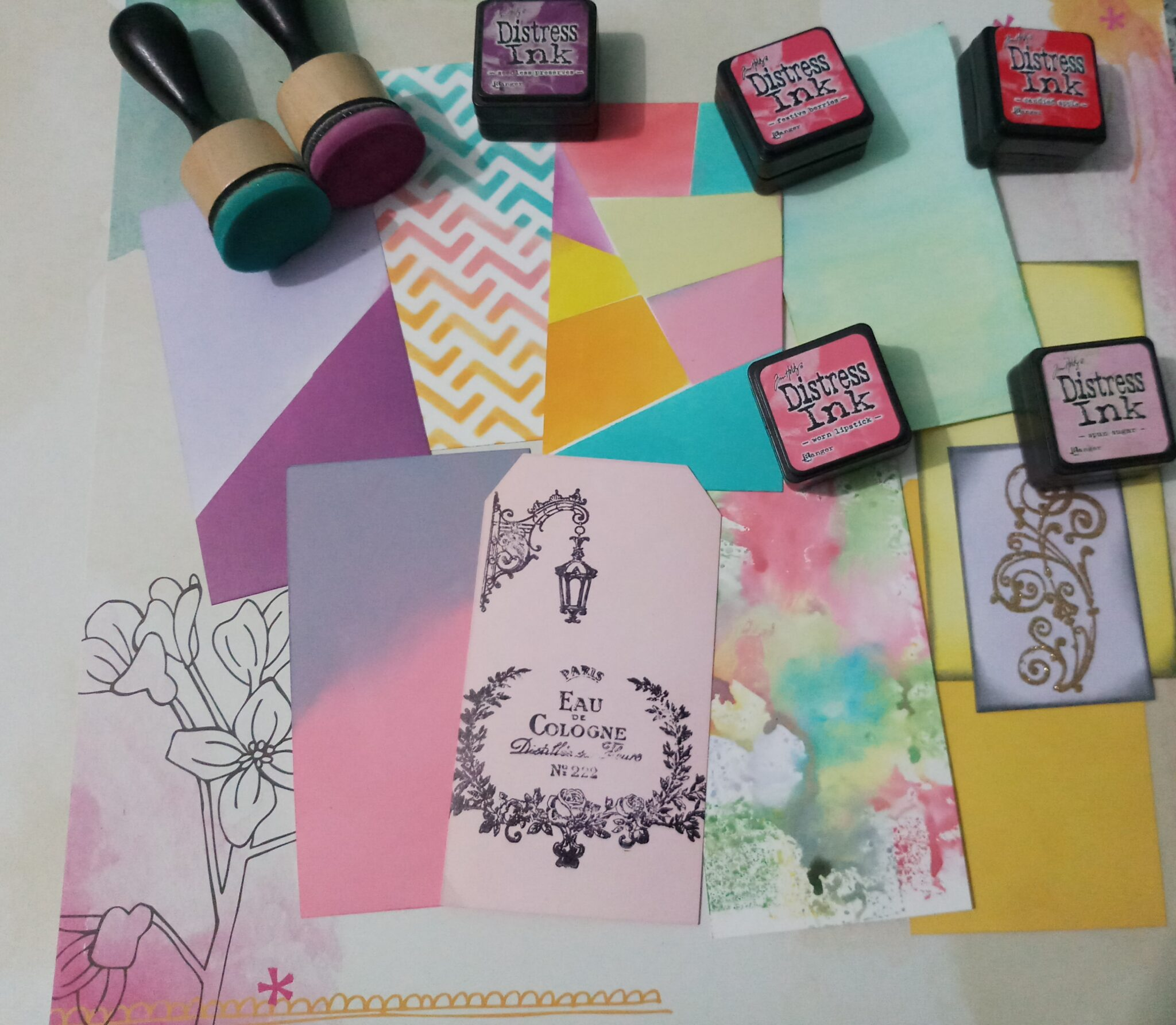 Distress ink workshop