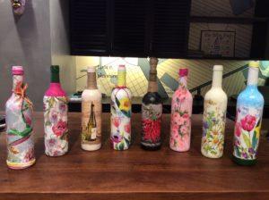 Decoupage Bottle Art workshop in Chandigarh