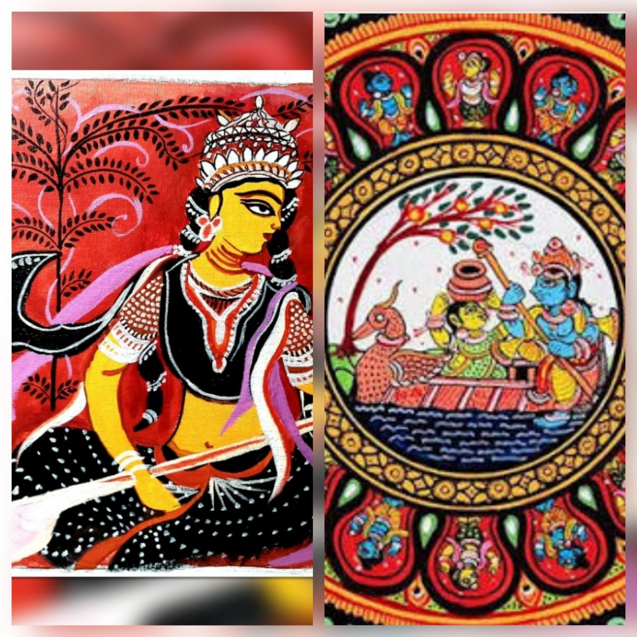 Pattachitra Bengal Orissa Folk Art