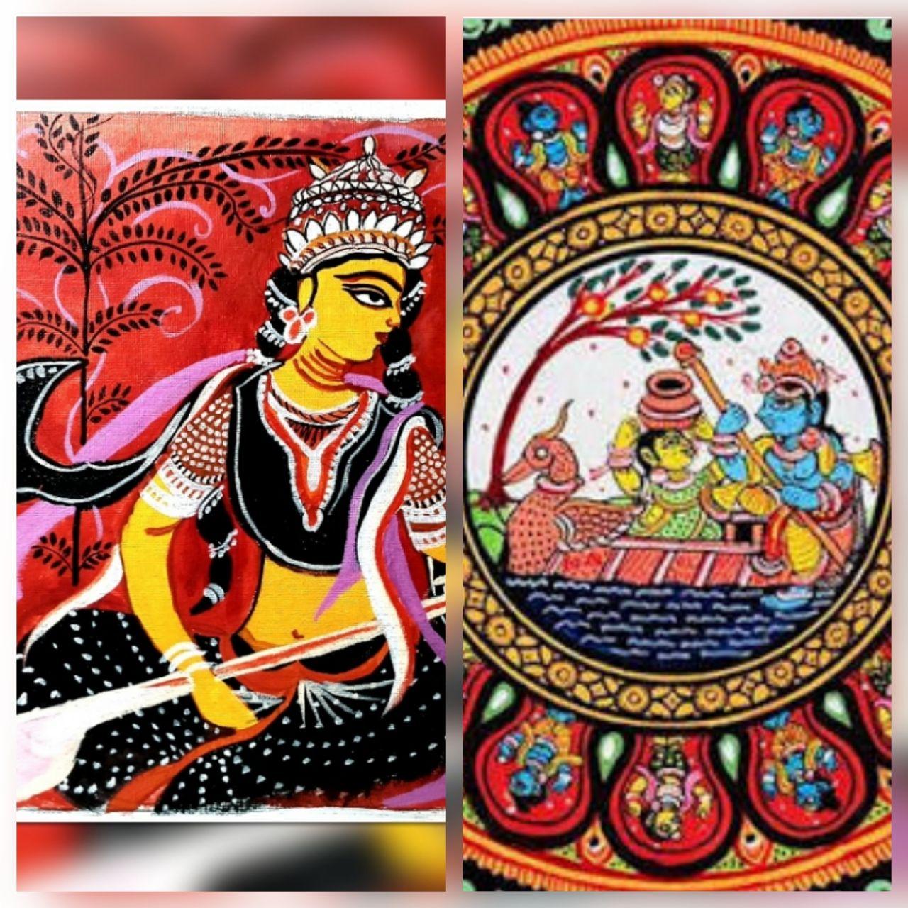 Pattachitra Bengal Orissa Folk Art