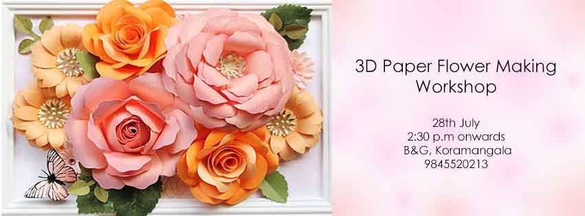 Giant 3D Paper Flower Making workshop