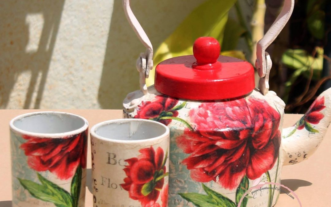 Decoupage on Metal – Beginner workshop in Bangalore