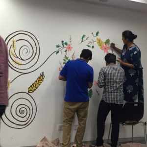 wall painting for employees