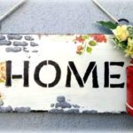 Mixed media decoupage distressed nameplate