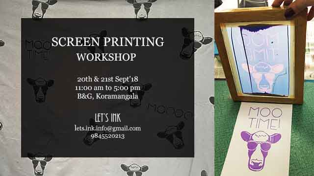 screen printing workshop