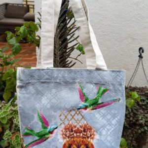 Fabric Decoupage on tote bags