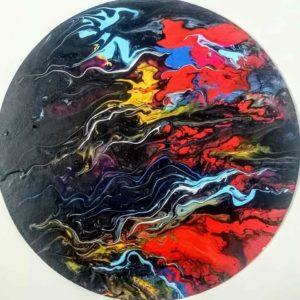 Acrylic Pour Abstract ARt