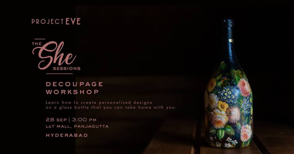 Bottle decoupage art in hyderbad