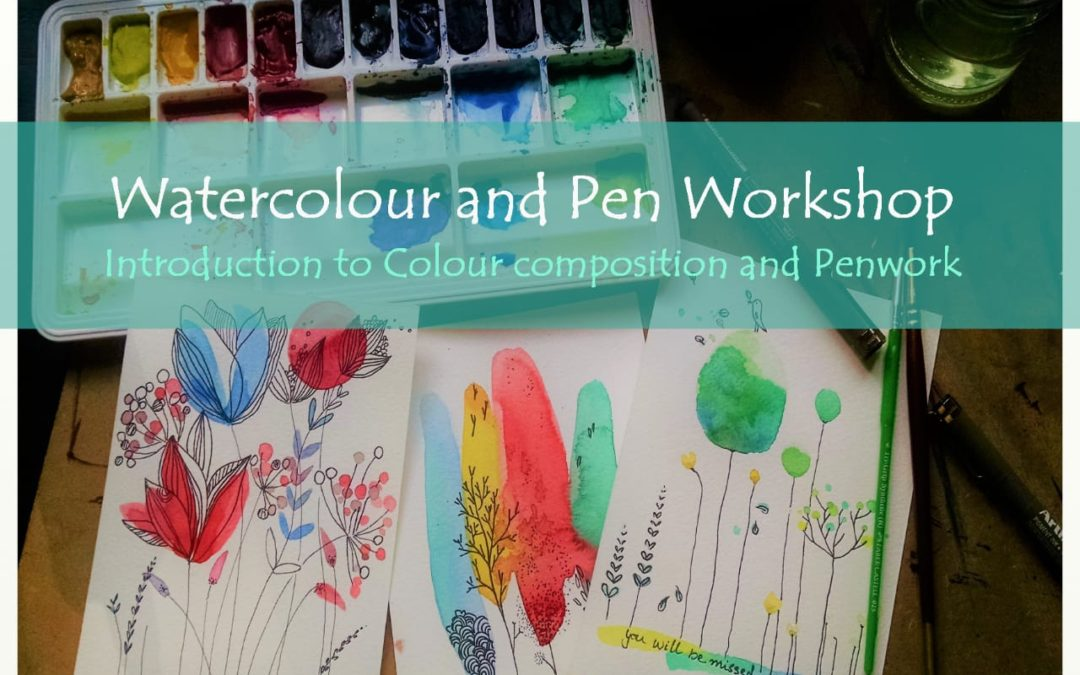 Introduction to Watercolour, Penwork and Color Composition – Beginner workshop
