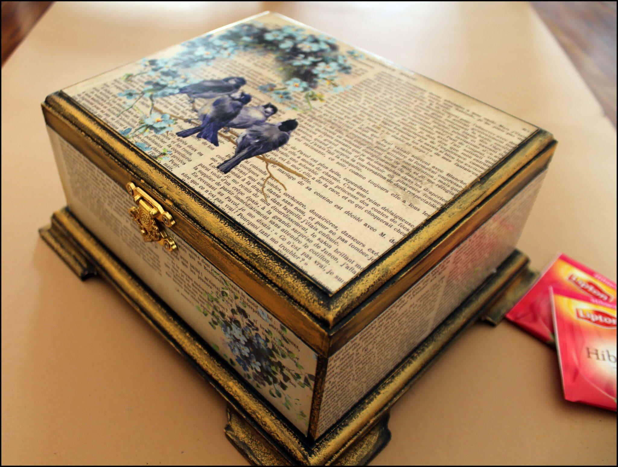 decoupage on jewellery box