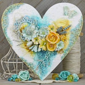 Shabby Chic Altered Wooden Heart