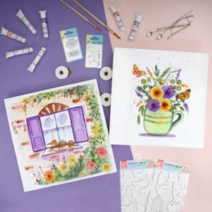 Watercolour and Little Birdie Stamps