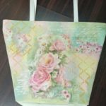 Decoupage on faux leather bag