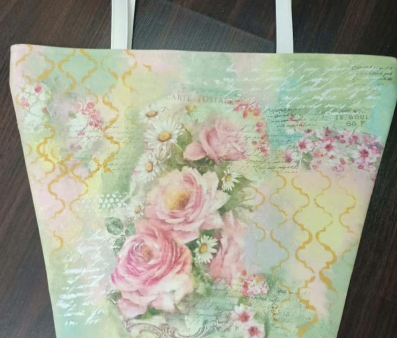 Decoupage on Faux Leather bag – Beginners workshop
