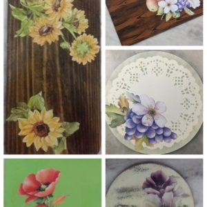 Decoupage wood Backgrounds