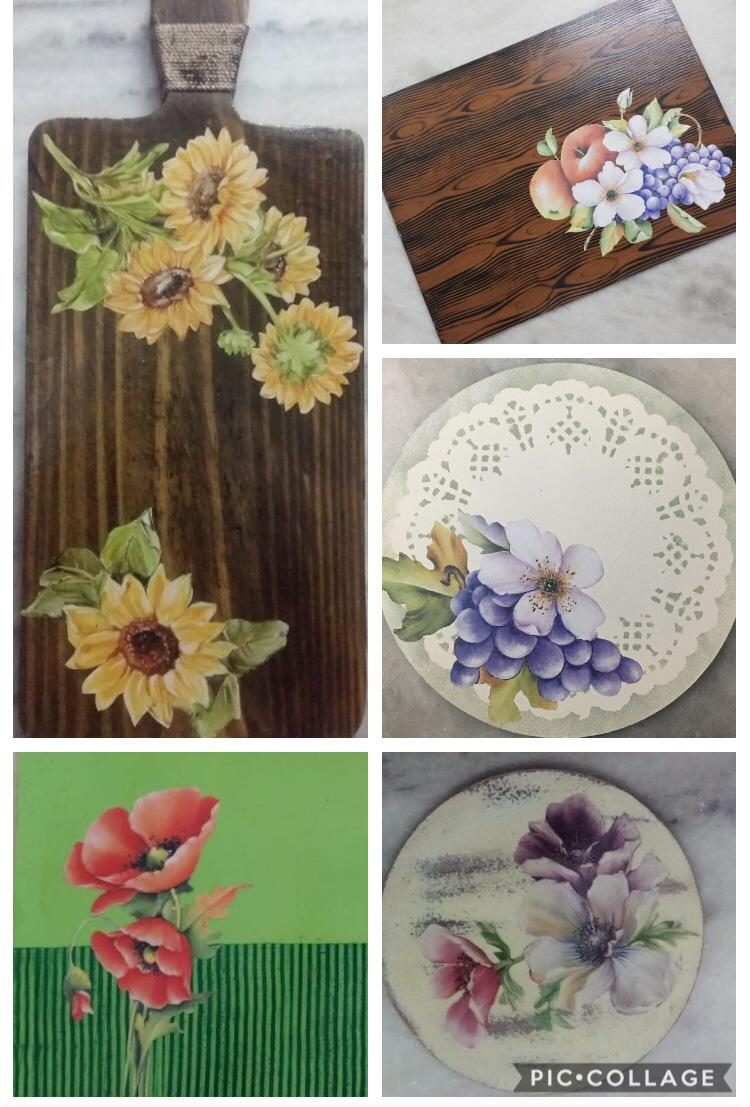 Decoupage wood Backgrounds