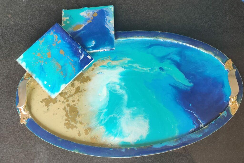 Resin Art on Tray - Beginner Weekday Workshop