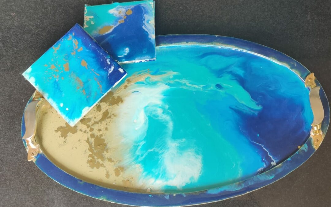 Resin Art on a tray – Beginner Weekday workshop